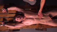 Male muscled sex slave story Uncut muscle jock cums after brutal whipping stretching - dreamboybondage
