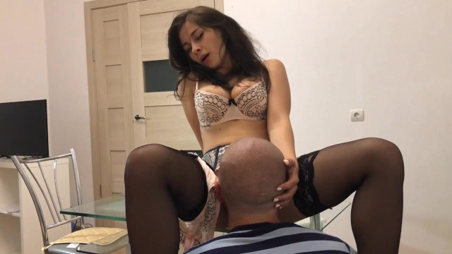 neighbor lolly_lips came to have sex in the kitchen. watch until the finish