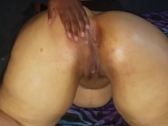Bbw With Xxl Marvelous Bootie Enjoys Her Booty Rubbed.