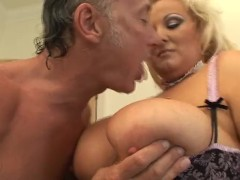 Old Lewd Guy Plays With His Steaming Light-haired Big-chested Plumper Carrier Steaming Girl
