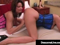 Horny Husband's Agency Receives Cougar Charlee Haunt To Deepthroat His Rock-hard Cock!