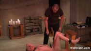 Bdsm maledom brutal Bound submissive dominated by hardcore maledom master and various devices