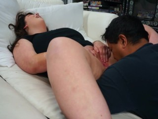 Nose diving into some wet BBW pussy