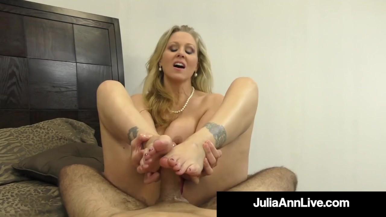 Beautiful Busty Milf Julia Ann Milks A Hard Cock Right In Her Mouth!