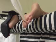wife foot torture! amateur milf in hight heels, tickling, spanking