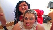 Chavs having sex Chubby british chavs take facials and cum in mouth