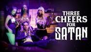 Satanic pornography Three little cheerleaders for satans cock- burningangel