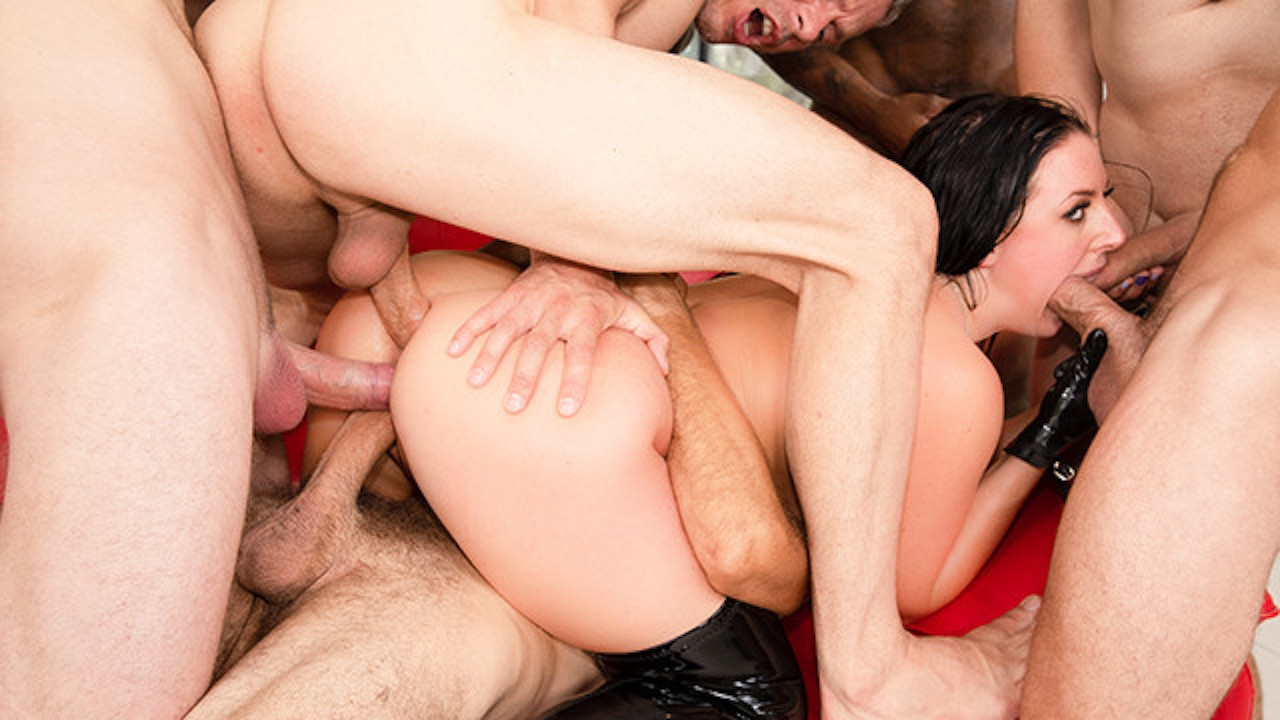 Double penetration anal gangbang in europe