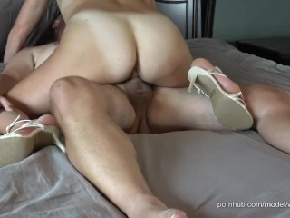 HE CAN'T RESIST CUMMING IN STEPMOMMY'S MILF PUSSY