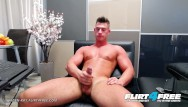 Free college gay cock - Flirt4free - aiden kay - hot blue eyed college stud jerks his huge cock