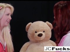 Teddy Teddy Have Fun With 2 Lesbians