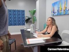 Smoking Torrid Professor Carmen Valentina Gets Meaty Dark-hued Stiffy Dream Fuck!