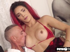 Pinkotgirl loves to fuck the guy in the ass