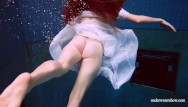 Hot wet dogging sex - Hot babe marketa is wet in the pool