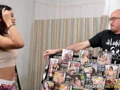 Ebony Teenager Jeni Angel Takes 2 Milky Gloryhole Cocks