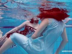 Lesbos Underwater Having In The Pool