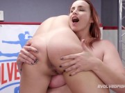 Big boobed Bella Rossi lesbian sex wrestling with Sophia Grace