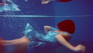 Hot young hairy pussies in action Redhead russian hairy babe swimming pool action
