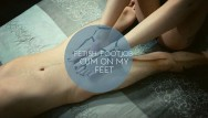 Boobs br st Fetish: footjob - cum on my feet