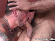super horny inked up gay bear getting fucked