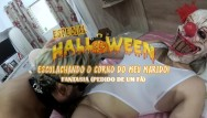 Cristina stefanescu nude Halloween - humiliating my cuckold husband, slutwife with killer clown mask