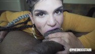 Mob chick nude Pheonixxstarr takes cumshot to the face from freak mob media