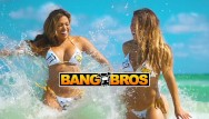 Nude women men in showers - Bangbros - hot women shower on south beach to rinse off the sand
