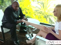 Aaliyah Love Big Black Cock Footjob Interview