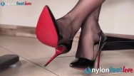 Nylon foot tgp movie Secretary in pantyhose and sexy foot seducing