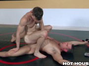 2 Hunks Wrestle For A RAW Fuck - HotHouse