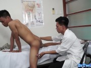 asian doctor gives his good head
