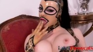 Sucking big clit Babe latex lucy rubs her clit