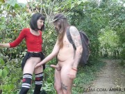 emo hot teen plays with random dude in the woods | cam4