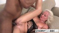 Blond granny nude Interracial compilation