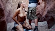 Unprotected sex and skipping a pill - Hot couple has passionate sex in cave - molly pills - outdoor creampie