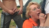 Free mature porn picks Picked up sexy gilf takes double penetration outdoors