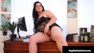 Bbw with hairy cunt Plump hairy pussy angelina castro stuffs her curvy cuban cunt in the office