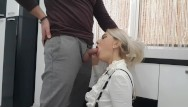 Office fucking blonde Sexy milf secretary anal sex in the office