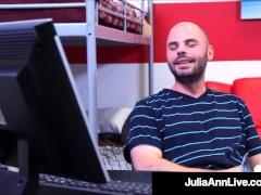 Hot Huge Knocker Schoolteacher Julia Ann Cracks The Regulations & Pokes Her Kinky Student!