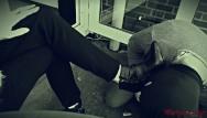 Shoe heel pump strip her Mistress shoes slave licking her high heels - hot mistress kym