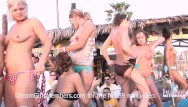 Bikini contest - Bikini contest turns horny when girls start showing hairy pussy