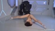 Dasha from 55th anniversary playboy nudes Dasha kuvshin spreads and splits naked