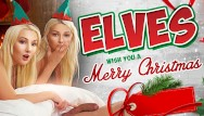 Girl fucks elves - Vrconk ffm threesome with two hot sexy blonde elves vr free porn