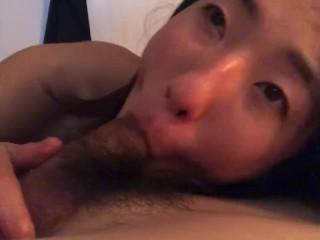 Naughty Asian girlfriend sucks my dick so good