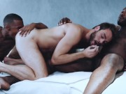 NoirMale - White guy gets tag teamed by 2 BBCs in threesome