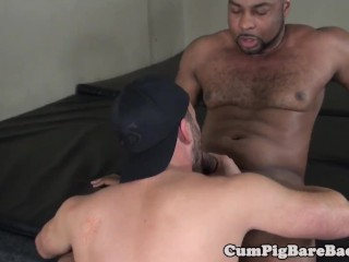 buttfucking black hunk sprayed with hot jizz