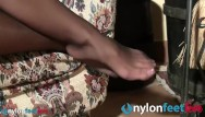 Teens licking feet in pantyhose Pantyhose foot massage in black pantyhose