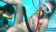 Teen kissing naked Lesbos underwater kissing and licking