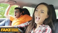 Driving blowjob videos - Fake driving school sexy hot learner kristy black fucked doggy style