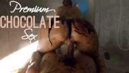 Naked chocolate girl photo - We made a mess - hot chocolate sex in a public wellness spa-magicmintcouple